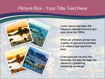 Night view of mountain Sugar Loaf PowerPoint Templates - Slide 23