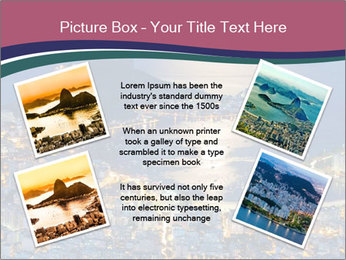 Night view of mountain Sugar Loaf PowerPoint Templates - Slide 24