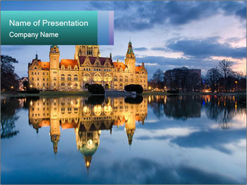 City Hall of Hannover PowerPoint Template - Slide 1