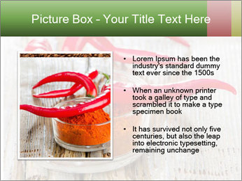 Red peppers on wooden table PowerPoint Templates - Slide 13