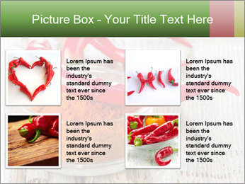 Red peppers on wooden table PowerPoint Templates - Slide 14