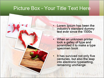 Red peppers on wooden table PowerPoint Templates - Slide 17