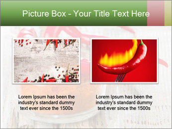 Red peppers on wooden table PowerPoint Templates - Slide 18