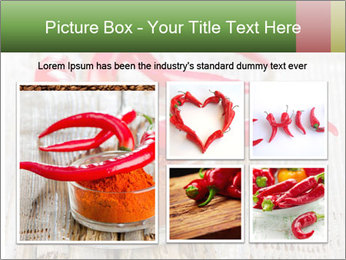 Red peppers on wooden table PowerPoint Templates - Slide 19