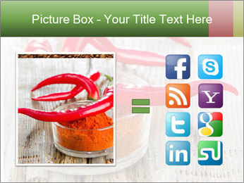 Red peppers on wooden table PowerPoint Templates - Slide 21