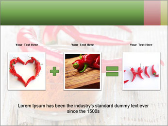 Red peppers on wooden table PowerPoint Templates - Slide 22