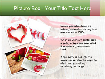 Red peppers on wooden table PowerPoint Templates - Slide 23