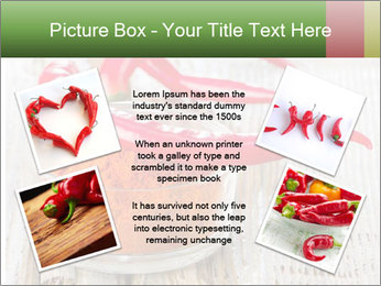 Red peppers on wooden table PowerPoint Templates - Slide 24