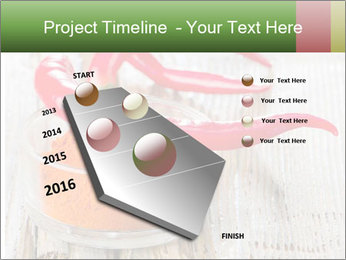 Red peppers on wooden table PowerPoint Templates - Slide 26