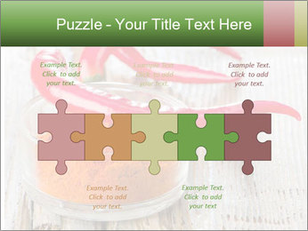 Red peppers on wooden table PowerPoint Templates - Slide 41