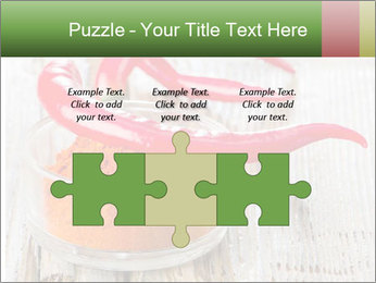 Red peppers on wooden table PowerPoint Templates - Slide 42