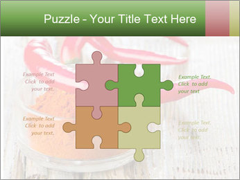Red peppers on wooden table PowerPoint Templates - Slide 43