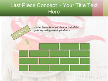 Red peppers on wooden table PowerPoint Templates - Slide 46