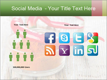 Red peppers on wooden table PowerPoint Templates - Slide 5