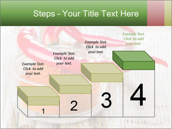 Red peppers on wooden table PowerPoint Templates - Slide 64