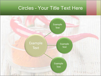 Red peppers on wooden table PowerPoint Templates - Slide 79
