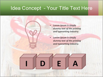 Red peppers on wooden table PowerPoint Templates - Slide 80