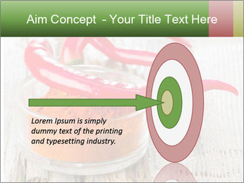 Red peppers on wooden table PowerPoint Templates - Slide 83