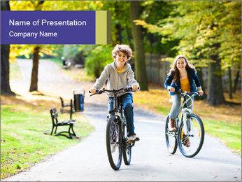 Urban biking PowerPoint Template - Slide 1