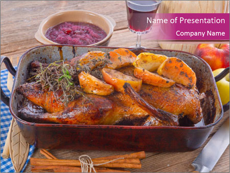 Roasted duck PowerPoint Template