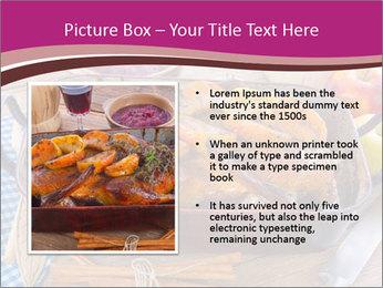 Roasted duck PowerPoint Template - Slide 13