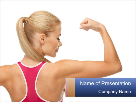 Picture of young sporty woman PowerPoint Template