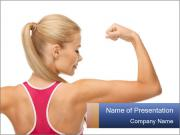 Picture of young sporty woman PowerPoint Templates