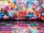 Colorful grunge art wall PowerPoint Templates
