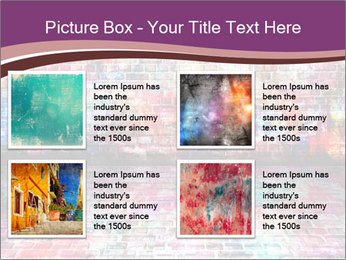 Colorful grunge art wall PowerPoint Templates - Slide 14