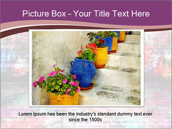 Colorful grunge art wall PowerPoint Templates - Slide 16