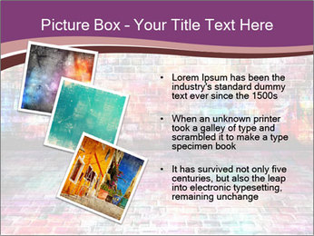 Colorful grunge art wall PowerPoint Templates - Slide 17