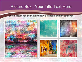 Colorful grunge art wall PowerPoint Templates - Slide 19