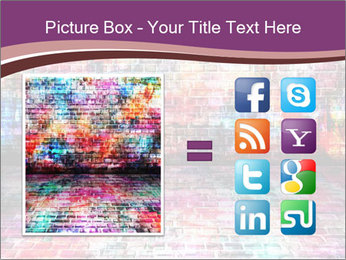 Colorful grunge art wall PowerPoint Templates - Slide 21