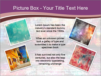 Colorful grunge art wall PowerPoint Templates - Slide 24