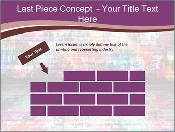 Colorful grunge art wall PowerPoint Templates - Slide 46