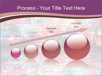 Colorful grunge art wall PowerPoint Templates - Slide 87