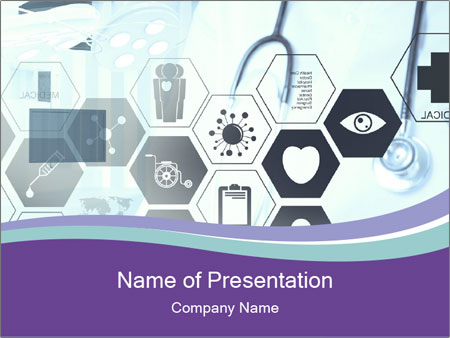 Medicine doctor hand PowerPoint Template