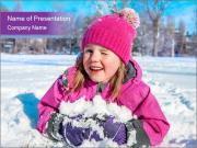 Child in winter PowerPoint Templates