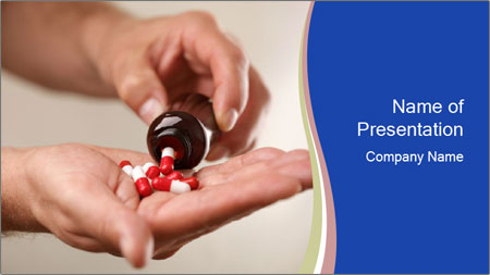 Pouring capsules PowerPoint Template - Slide 1