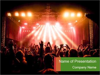 Rock concert PowerPoint Template - Slide 1