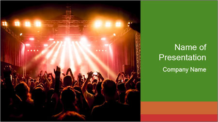 Rock concert PowerPoint Template