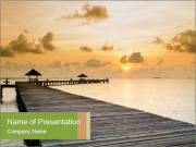 Wood jetty on the Beach PowerPoint Templates