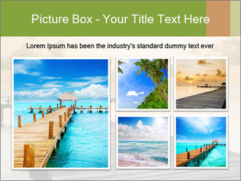Wood jetty on the Beach PowerPoint Templates - Slide 19