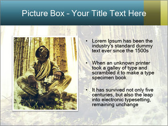 Soldier wearing a gas mask PowerPoint Template - Slide 13