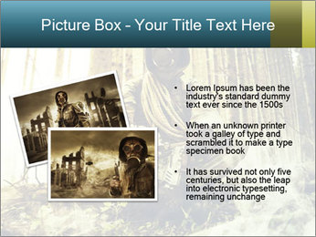 Soldier wearing a gas mask PowerPoint Template - Slide 20