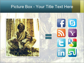 Soldier wearing a gas mask PowerPoint Template - Slide 21