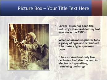 A male bow hunter PowerPoint Templates - Slide 13
