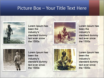 A male bow hunter PowerPoint Templates - Slide 14