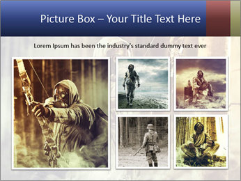 A male bow hunter PowerPoint Templates - Slide 19