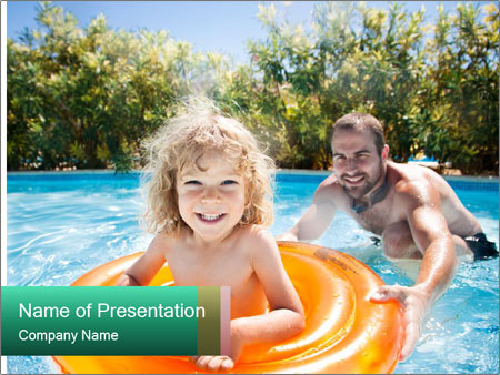 Father and daughter PowerPoint Templates